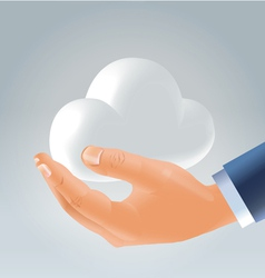 holding cloud vector image vector image