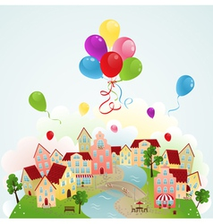 Holiday town vector image