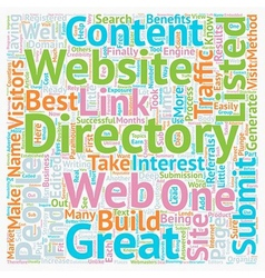 How To Submit To Web Directories text background vector image vector image