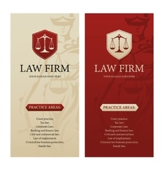 Law office firm or company vertical banners vector