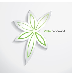 Modern abstract leaves design template vector image vector image