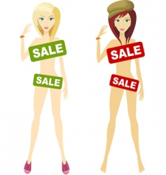 on sale design vector image