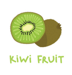 Square card with hand drawn kiwi fruit vector