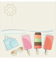 Summer ice cream at the seaside vector image vector image