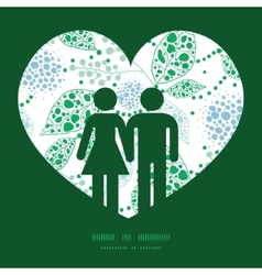 abstract blue and green leaves couple in vector image