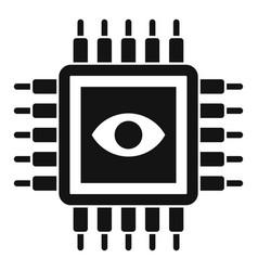 ai processor icon simple style vector image