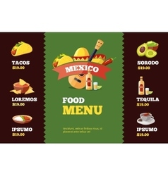 background restaurant menu vector image