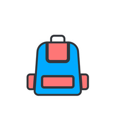 backpack flat icon sign symbol vector image