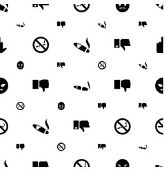 bad icons pattern seamless white background vector image