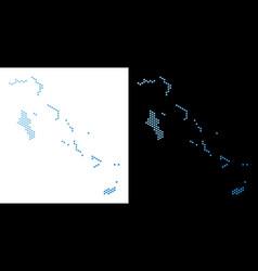 Bahamas islands map hex-tile mosaic vector
