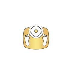 Bathroom scale computer symbol vector