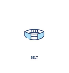 belt concept 2 colored icon simple line element vector image