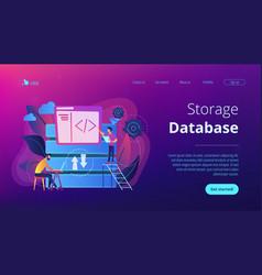 Big data developer concept vector