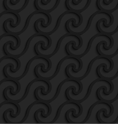 Black 3d horizontal spiral waves vector