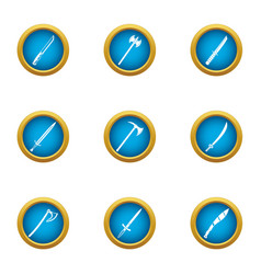 Blade icons set flat style vector