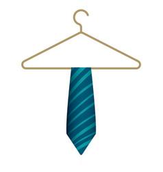 blue tie on hanger icon cartoon style vector image