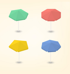 bright beach umbrella 3d vector image