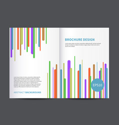 brochure or magazine cover design template vector image