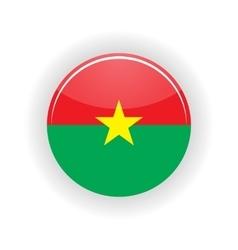 Burkina Faso icon circle vector image