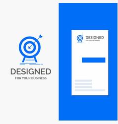 business logo for goal hit market success target vector image