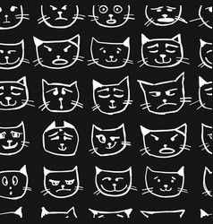 Cat faces seamless pattern for your design vector