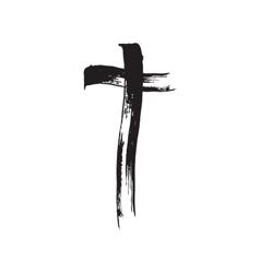 Christian cross grunge vector image