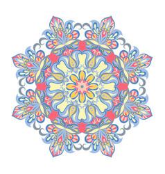 Colorful mandala ornament vector