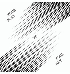 Comic book speed lines template vector