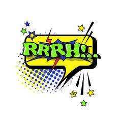 Comic speech chat bubble pop art style rrrh vector