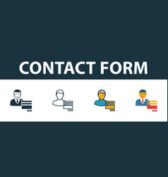 contact form icon set premium symbol in different vector image