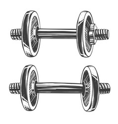 dumbbells icon cartoon hand drawn vector image
