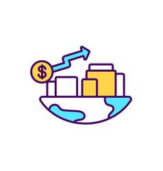 economic development rgb color icon vector image