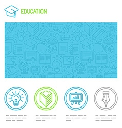 Educational design template vector