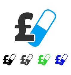 Farma pound business flat icon vector