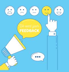 feedback emoticon scale vector image
