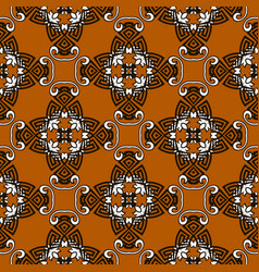 floral greek seamless pattern colorful vector image