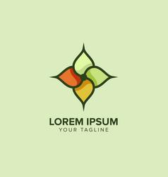 flower logo shape design template vector image