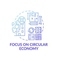 Focusing on circular economy concept icon vector