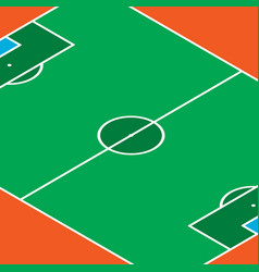 football pitch background vector image