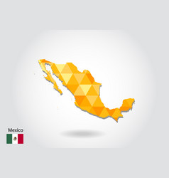 geometric polygonal style map of mexico low poly vector image