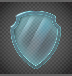 glass shield icon vector image