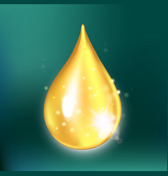 Glitter collagen drop oil drop with effects vector