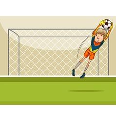 Goal keeper vector