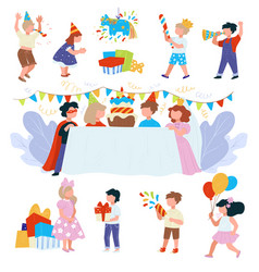 happy birthday party for children festivity and vector image