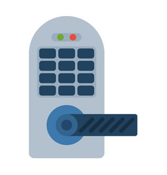 house door lock access equipment icon vector image