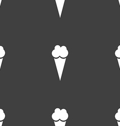 Ice Cream icon sign Seamless pattern on a gray vector