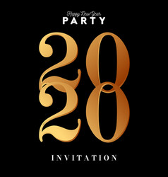 invitation for new year eve 2020 celebration big vector image