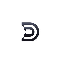 Letter d logo architecture door template vector