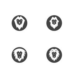lion logo template icon vector image