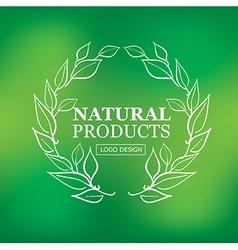 logo organic 08 vector image